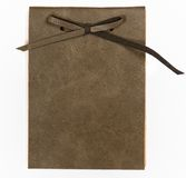 Leather note book cover. Blank leather note book cover Royalty Free Stock Image