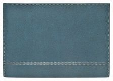 Leather note book cover. On white background stock photography
