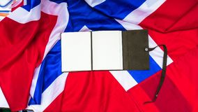Leather note on Norvegian Flag. Leather paper note on Norvegian Flag Royalty Free Stock Images