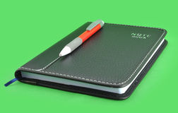 Leather notebook Stock Photo