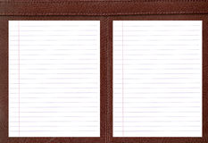 Leather notebook. Stock Photos