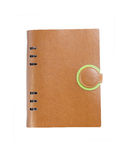 A leather notebook Royalty Free Stock Images