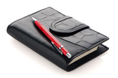 Leather notebook Royalty Free Stock Image