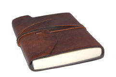 Leather Notebook. Old worn leather notebook Stock Photos