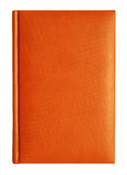 Leather notebook. Orange leather diary notebook at the white background Royalty Free Stock Photos