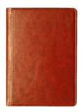 Leather notebook. Brown leather diary notebook at the white background Royalty Free Stock Photography