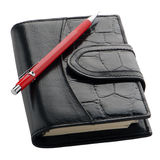Leather notebook Royalty Free Stock Images
