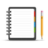 Leather notebook Stock Photography