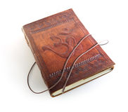 Leather notebook with a sign Om Stock Images