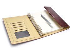 Leather notebook Stock Photos