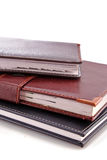 Leather notebooks Royalty Free Stock Photography