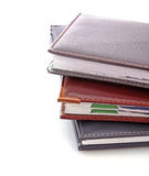 Leather notebooks Stock Photography