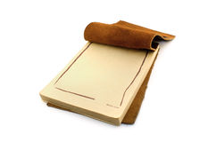 Leather notepad Royalty Free Stock Photography