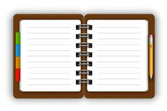 Leather notepad royalty free illustration