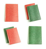 Leather notepads collection. On a white background Royalty Free Stock Photography