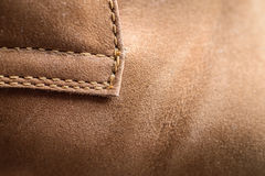 Leather (Nubuck) shoes, focus on details. Royalty Free Stock Image