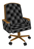 Leather office chair Royalty Free Stock Images