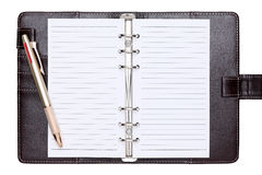 Leather office organizer Stock Images