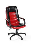 Leather office swivel chair Stock Photo