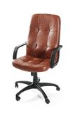 Leather office swivel chair. Against white background Royalty Free Stock Image