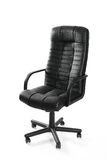Leather office swivel chair. Against white background Stock Images