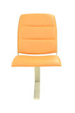 Leather orange chair isolated Stock Photography