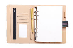 Leather organizer isolated Stock Images