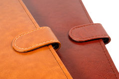 Leather organizers closeup Stock Images