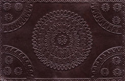 Leather ornament texture background. Leather texture background backdrop with an ornament pattern Royalty Free Stock Images