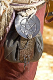 Leather Pagan Pouch Stock Images