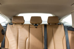 Leather  passenger seats in  car. Royalty Free Stock Photos