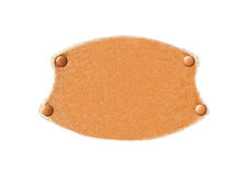 Leather patch with rivets Royalty Free Stock Photos