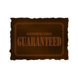 Leather patch - satisfaction guaranteed Royalty Free Stock Photo