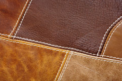 Leather Patches Background Stock Photos