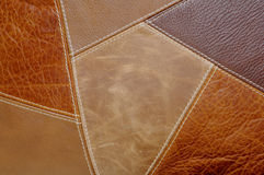 Leather Patches Background. Multi-Colored leather patch material Background Royalty Free Stock Image