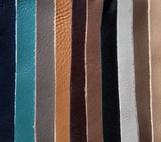 Leather patches of different color Royalty Free Stock Photography