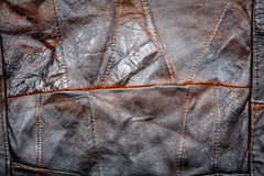 Leather patchwork fabric background Stock Image