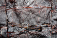 Leather patchwork fabric background Stock Images