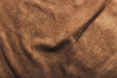Leather pattern. Texture of brown crumpled leather Stock Images