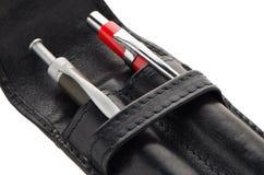 Leather pencil case Stock Image