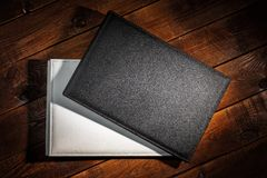 Leather photo albums Stock Photo