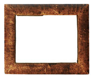 Leather photo-frame Royalty Free Stock Photos