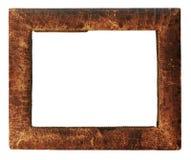Leather photo-frame Royalty Free Stock Photos