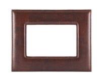 Leather photo frame isolated on white Royalty Free Stock Image