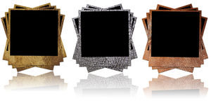 Leather photo frames Royalty Free Stock Photos