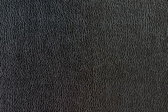 Leather. Picture of synthetic leather in black color. Macro photography Royalty Free Stock Photography