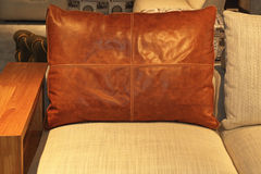Leather Pillow Stock Images