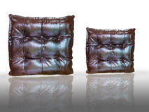 Leather pillow Stock Image