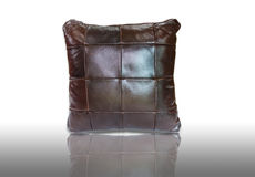 Leather pillow Stock Photography