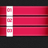 Leather pink color Design template / can be used for infographic. S Royalty Free Stock Images